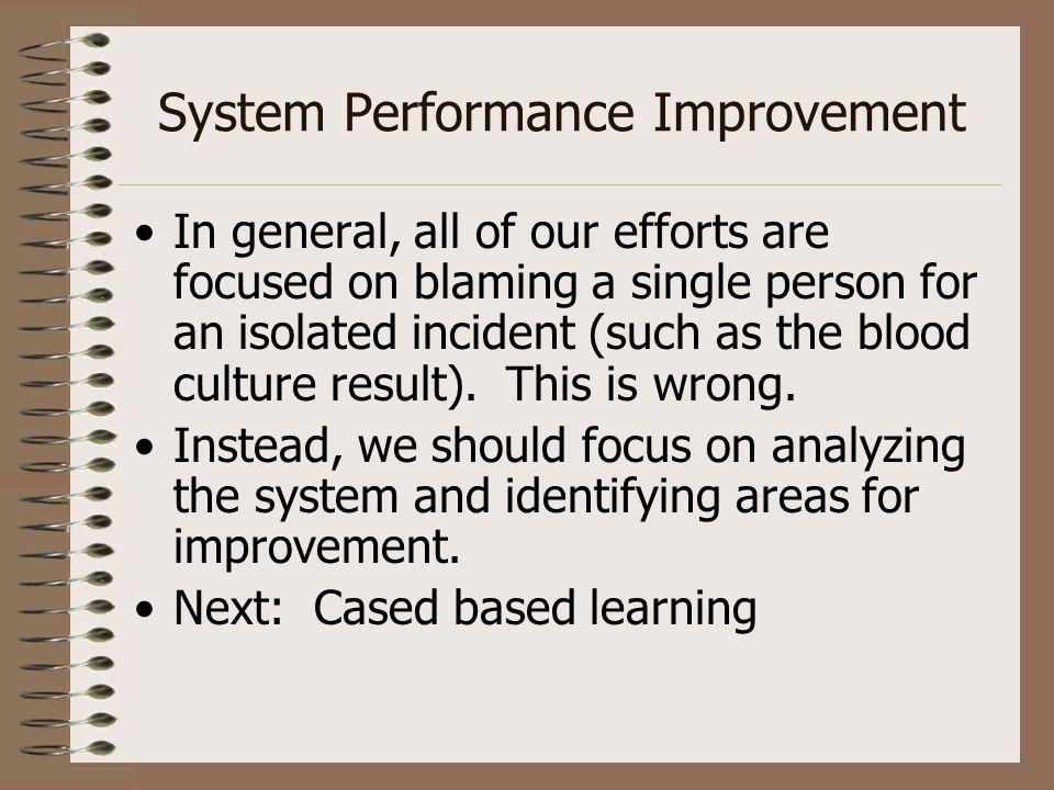 System Performance Improvement
