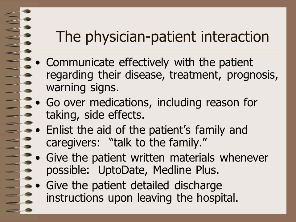 The physician-patient interaction
