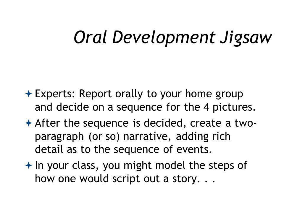 Oral Development Jigsaw