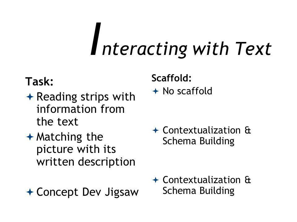 Interacting with Text Task: