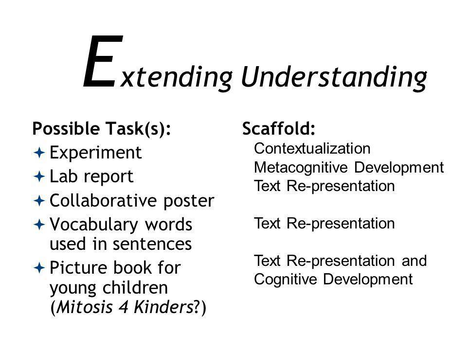 Extending Understanding