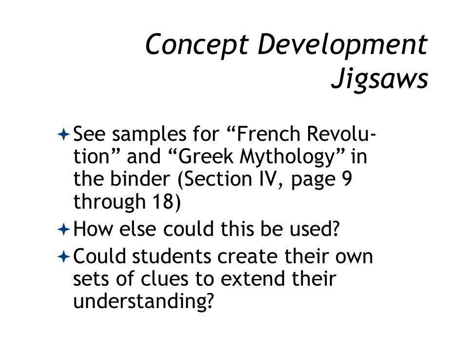 Concept Development Jigsaws