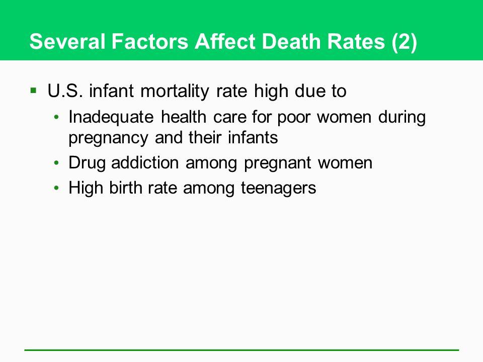 Several Factors Affect Death Rates (2)