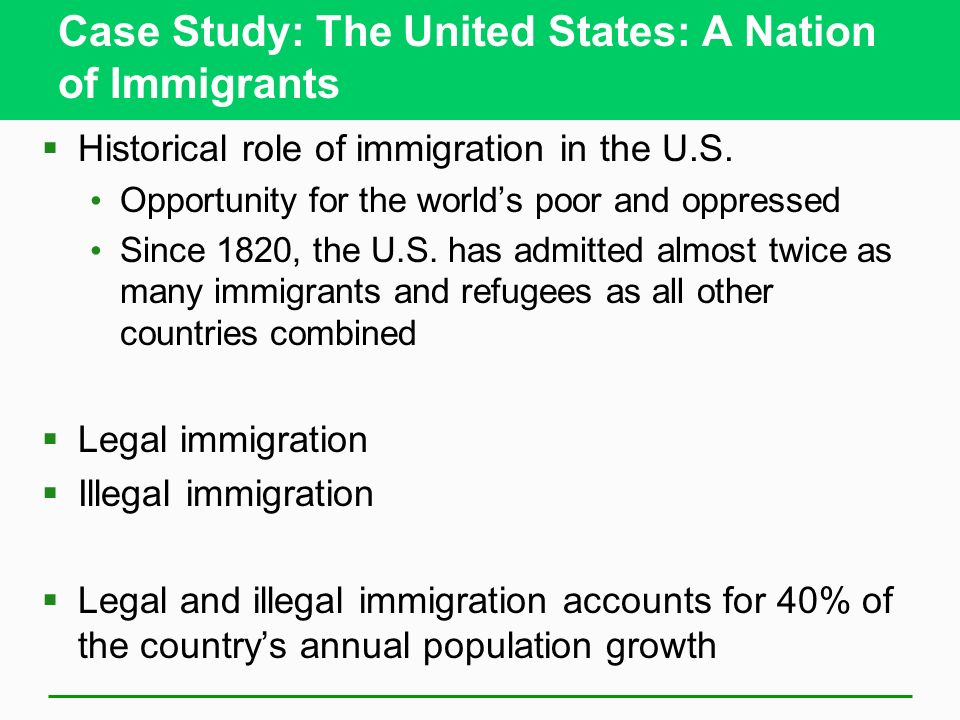 an analysis of immigrants in united states The us census bureau projects that net international migration to the united states will become the primary driver of the nation's population growth analysis of the entire nation over two decades and presenting the demographic context for future research on the impact of immigration on state and local.