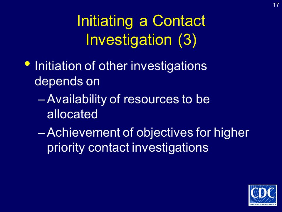 Initiating a Contact Investigation (3)