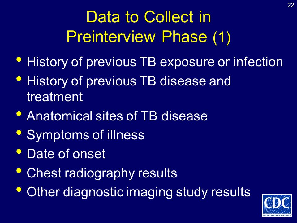 Data to Collect in Preinterview Phase (1)