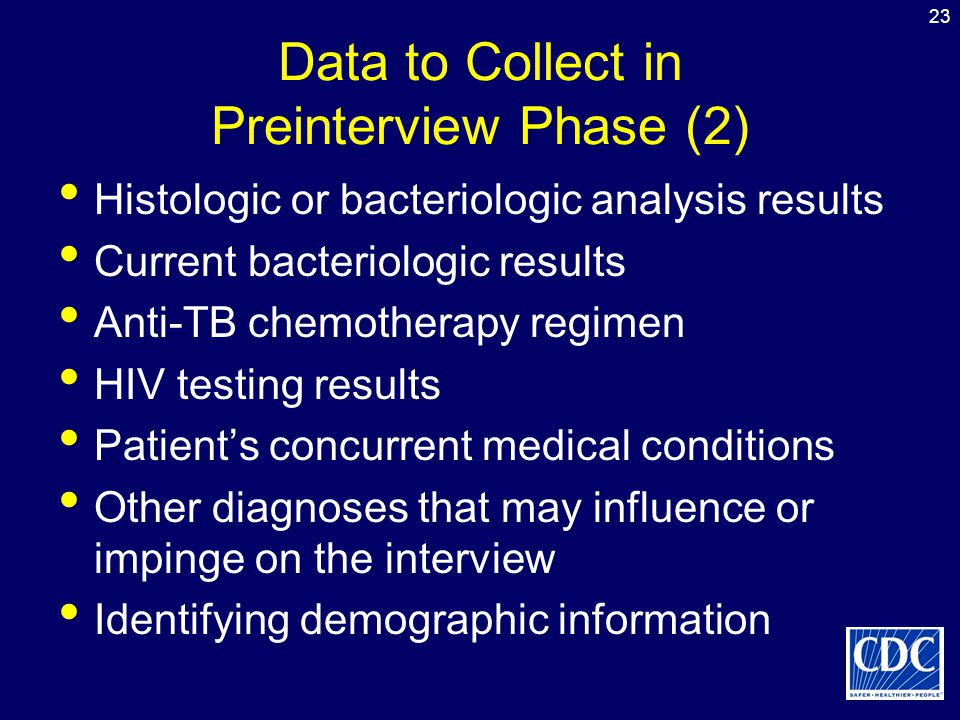 Data to Collect in Preinterview Phase (2)