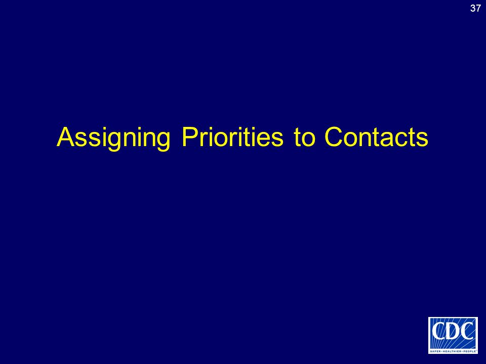 Assigning Priorities to Contacts
