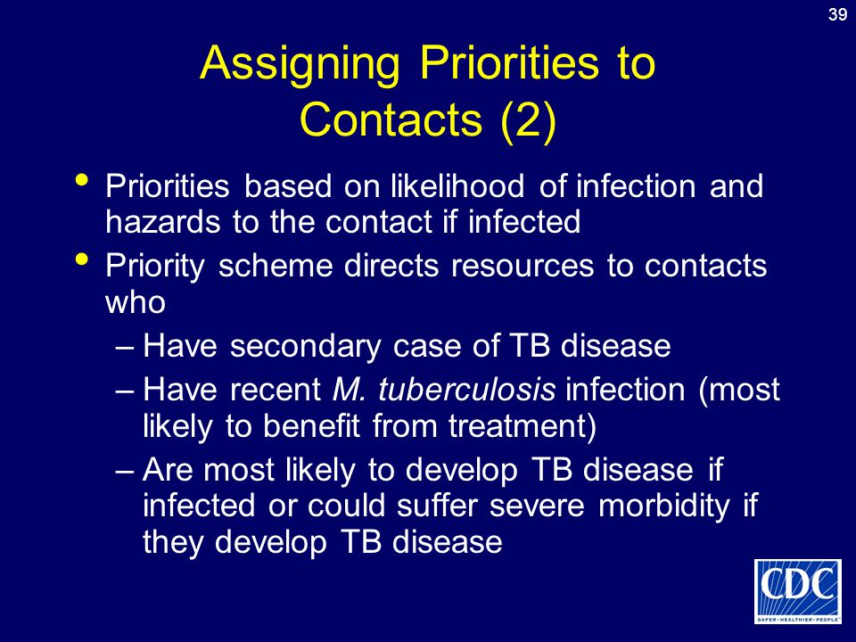 Assigning Priorities to Contacts (2)