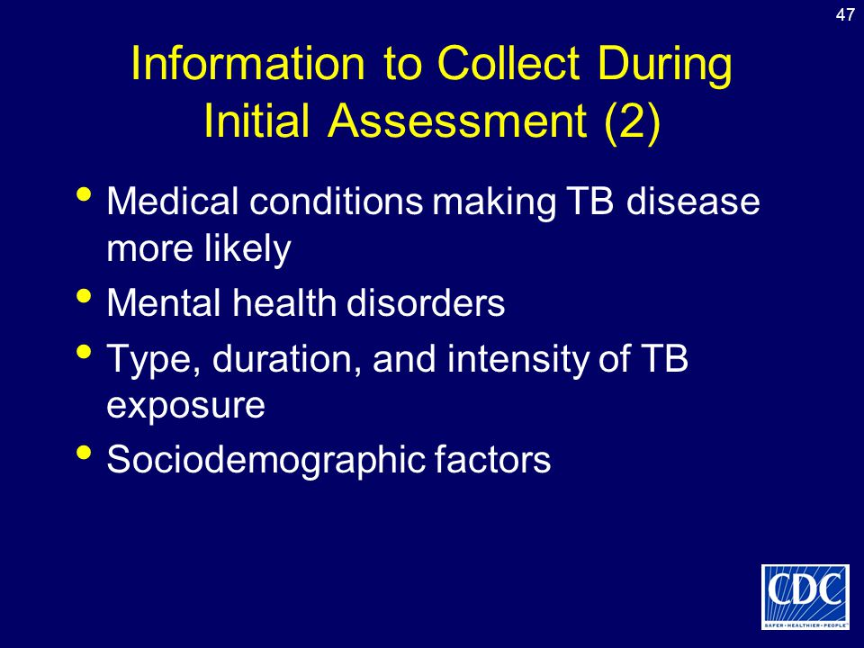 Information to Collect During Initial Assessment (2)