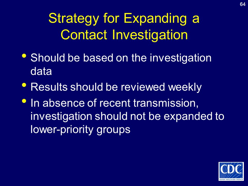 Strategy for Expanding a Contact Investigation