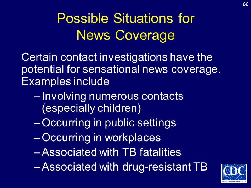 Possible Situations for News Coverage