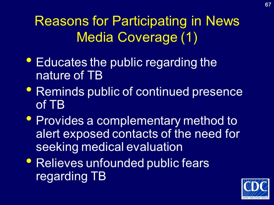 Reasons for Participating in News Media Coverage (1)