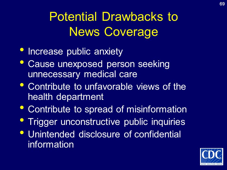Potential Drawbacks to News Coverage