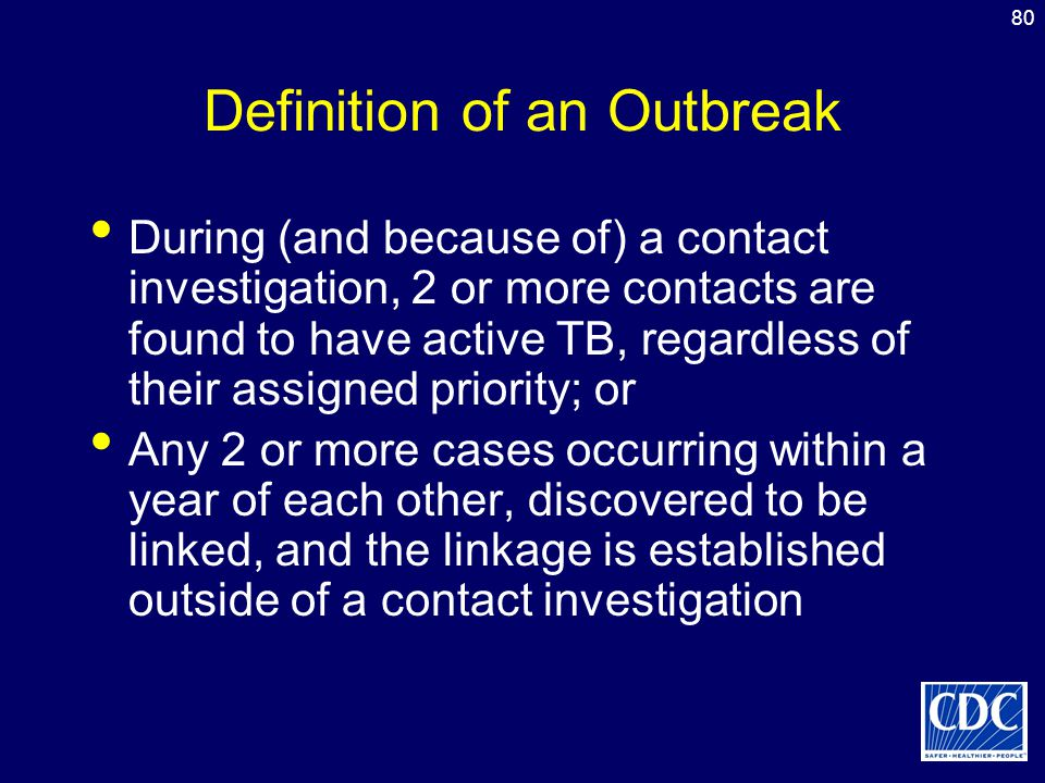 Definition of an Outbreak