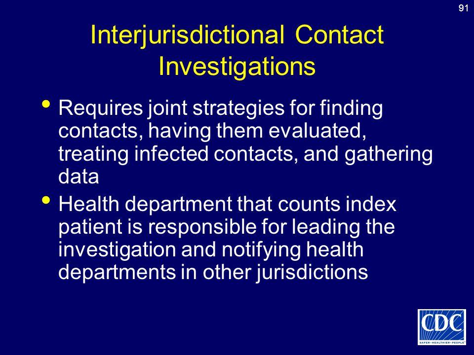 Interjurisdictional Contact Investigations
