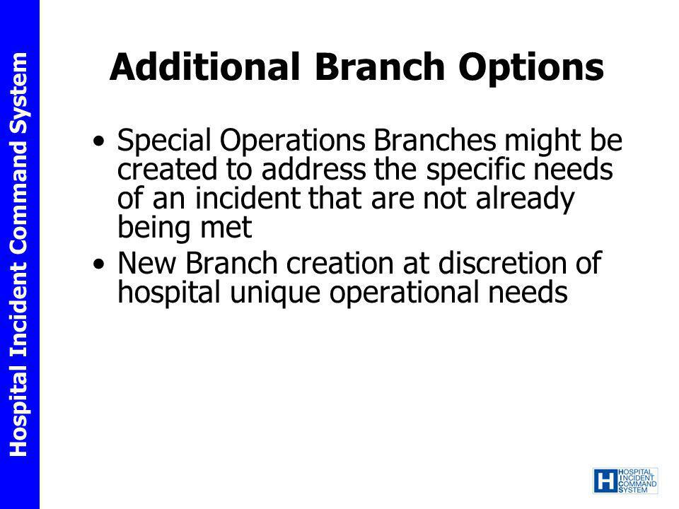 Additional Branch Options