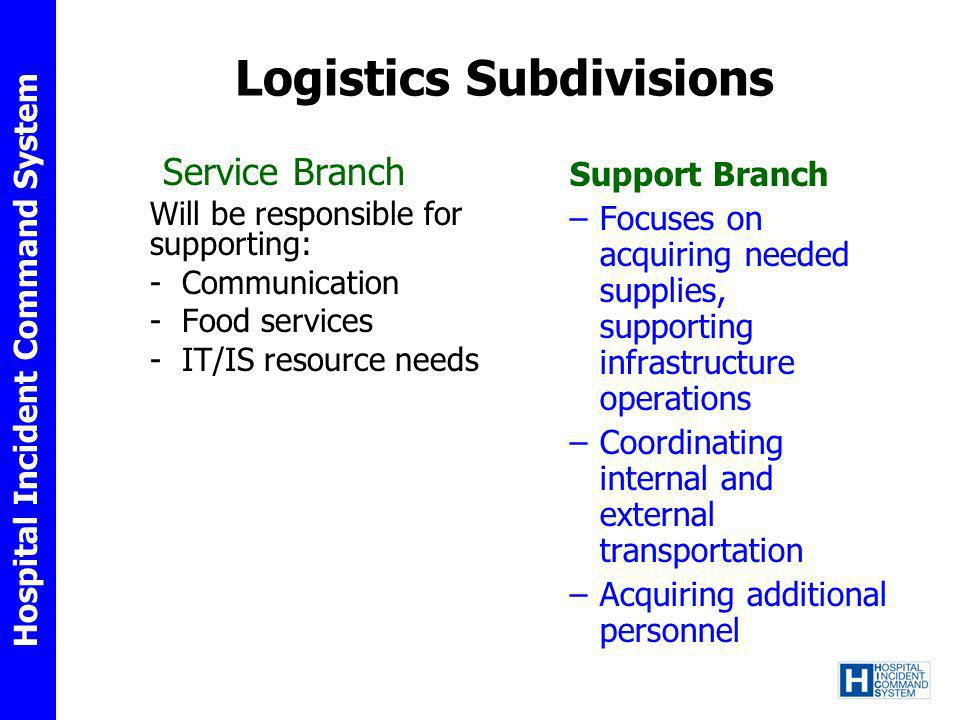 Logistics Subdivisions