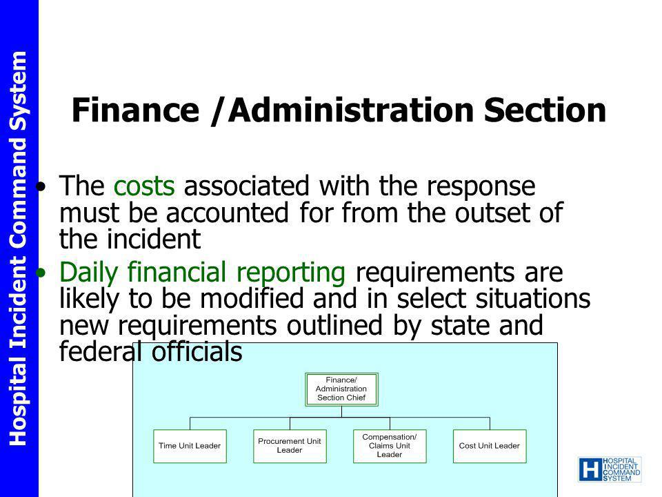 Finance /Administration Section