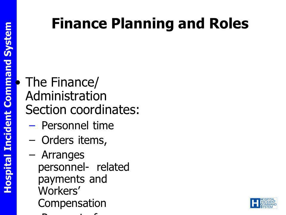 Finance Planning and Roles