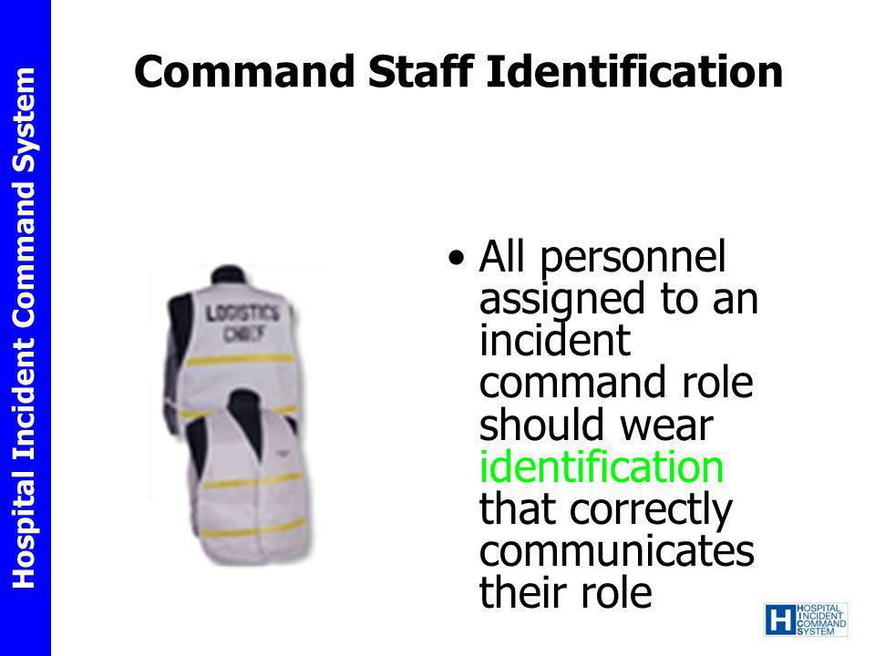 Command Staff Identification