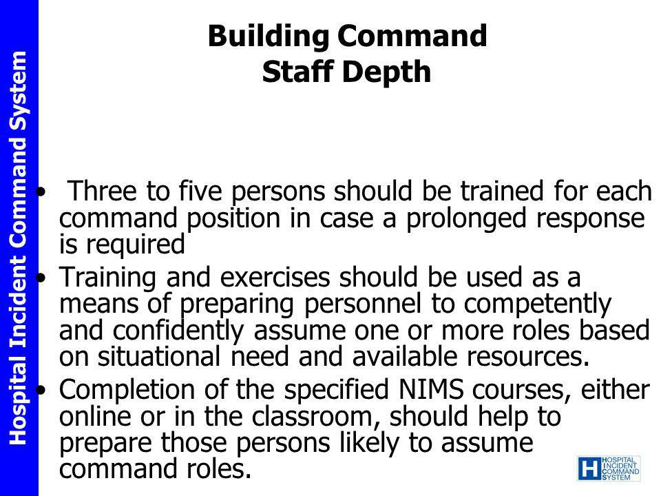 Building Command Staff Depth