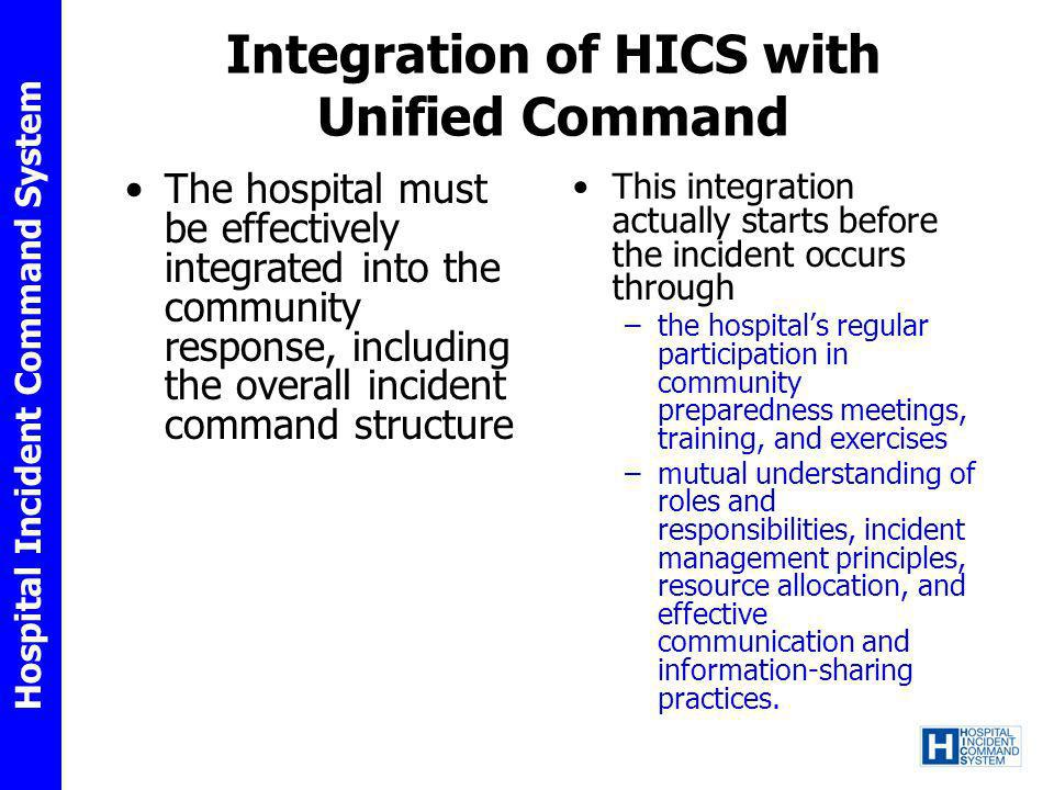 Integration of HICS with Unified Command