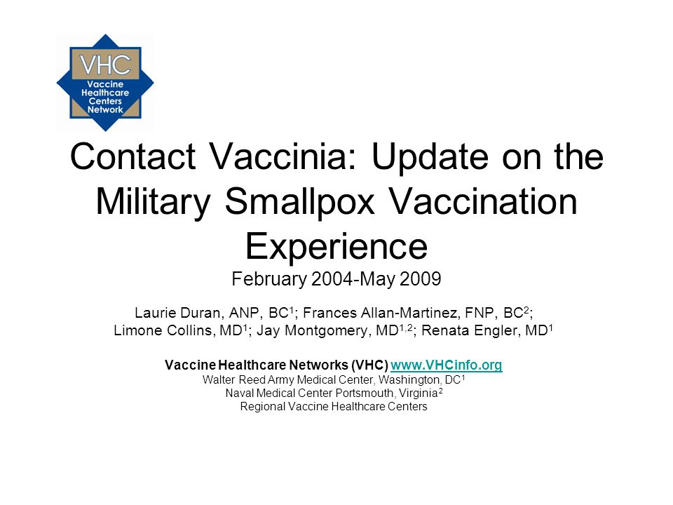 Vaccine Healthcare Networks (VHC) www.VHCinfo.org