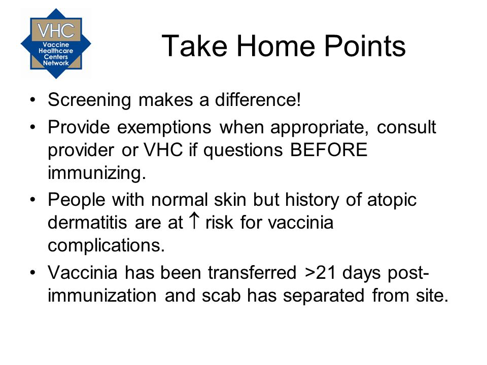 Take Home Points Screening makes a difference!