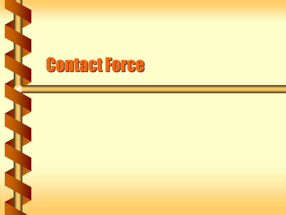Contact Force