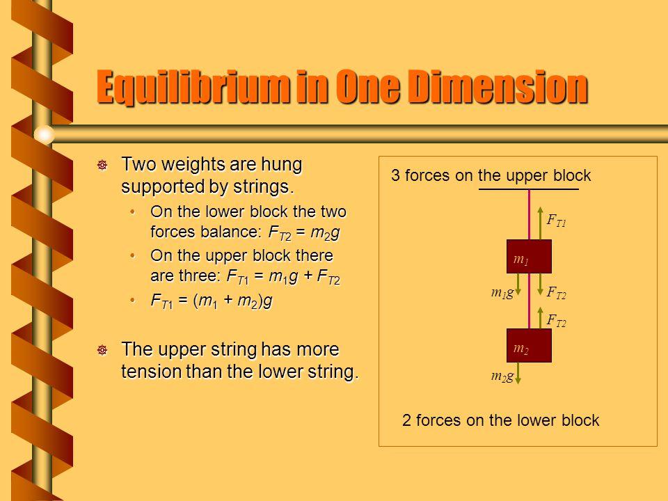Equilibrium in One Dimension