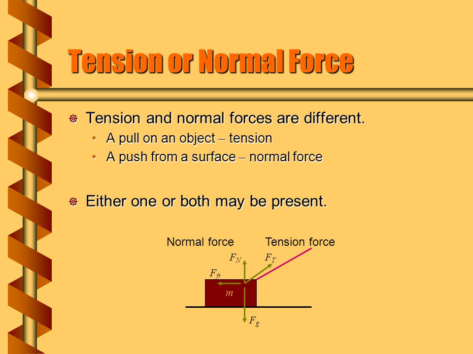 Tension or Normal Force