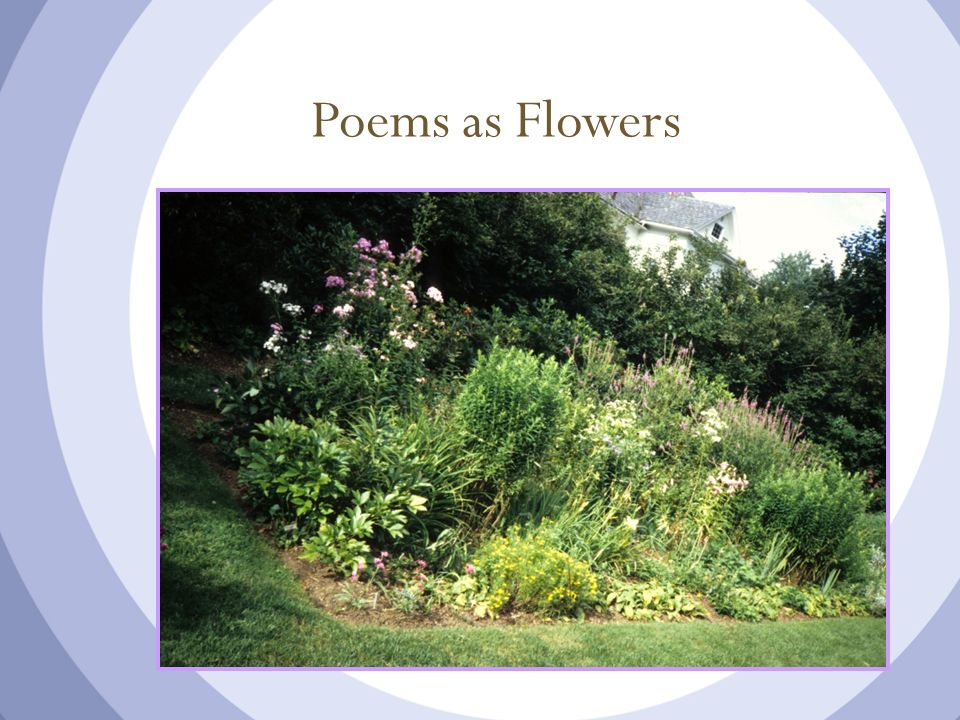 Poems as Flowers