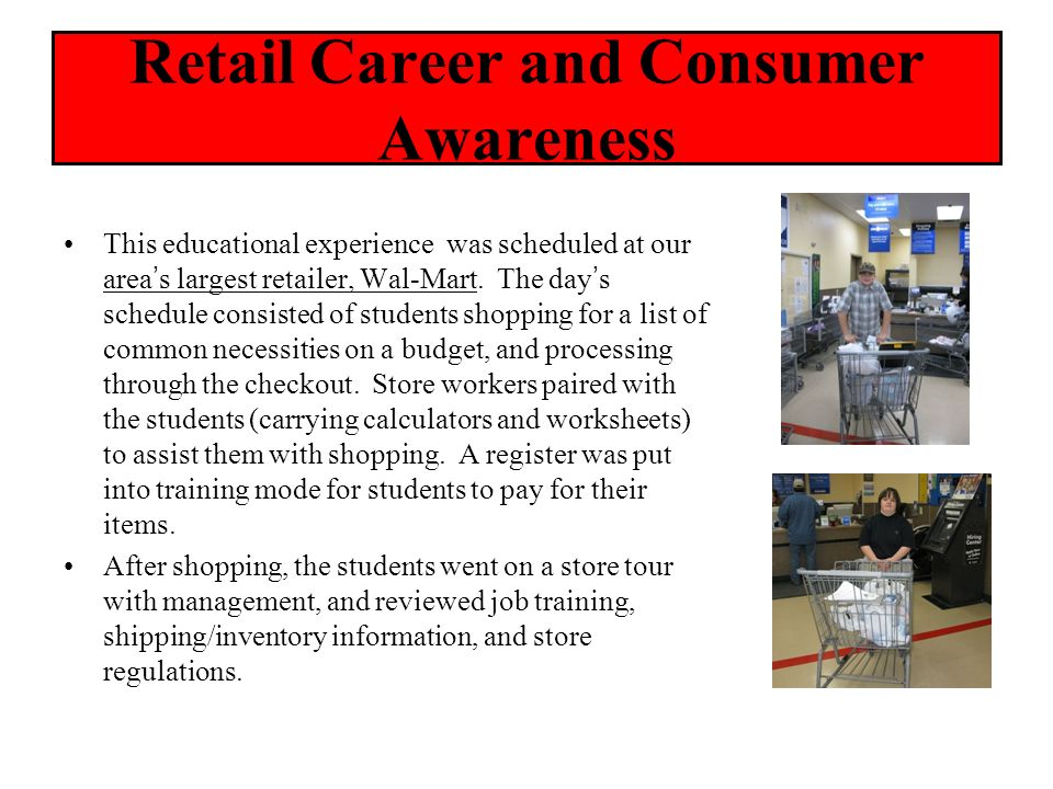 Retail Career and Consumer Awareness