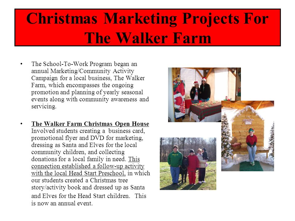 Christmas Marketing Projects For The Walker Farm