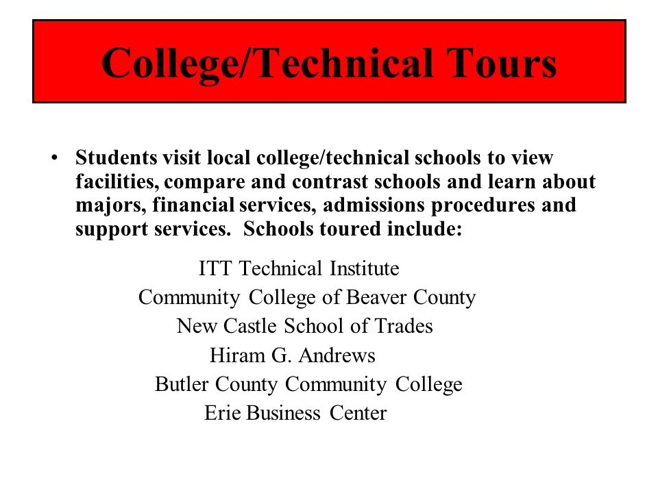College/Technical Tours