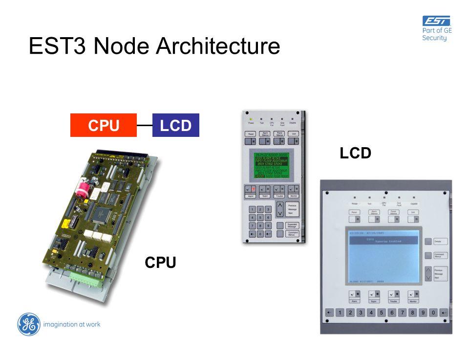 EST3 Node Architecture CPU LCD LCD CPU