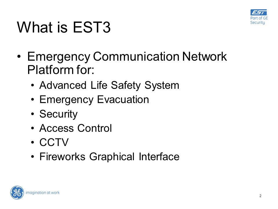 What is EST3 Emergency Communication Network Platform for: