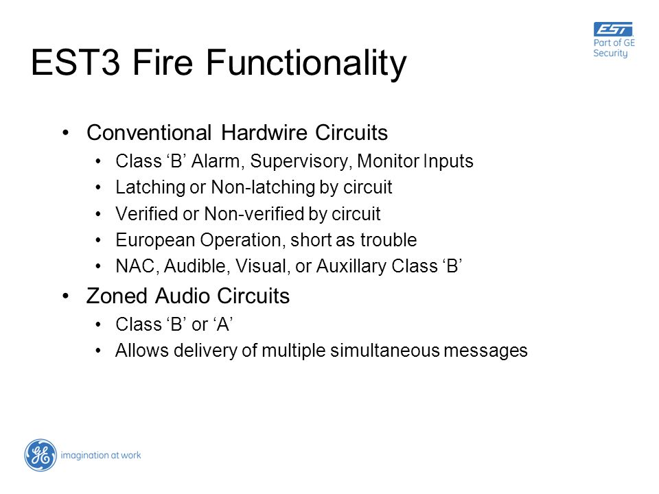 EST3 Fire Functionality