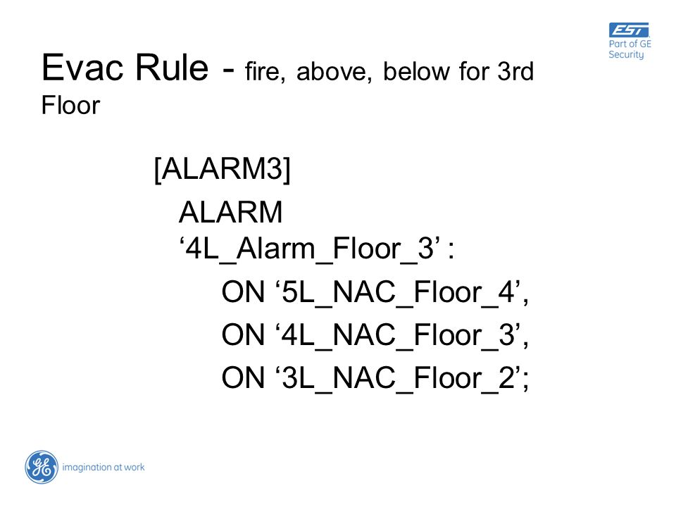 Evac Rule - fire, above, below for 3rd Floor