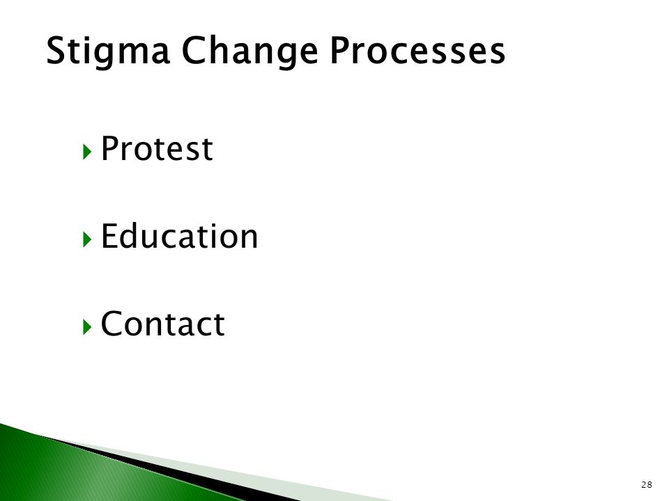 Stigma Change Processes