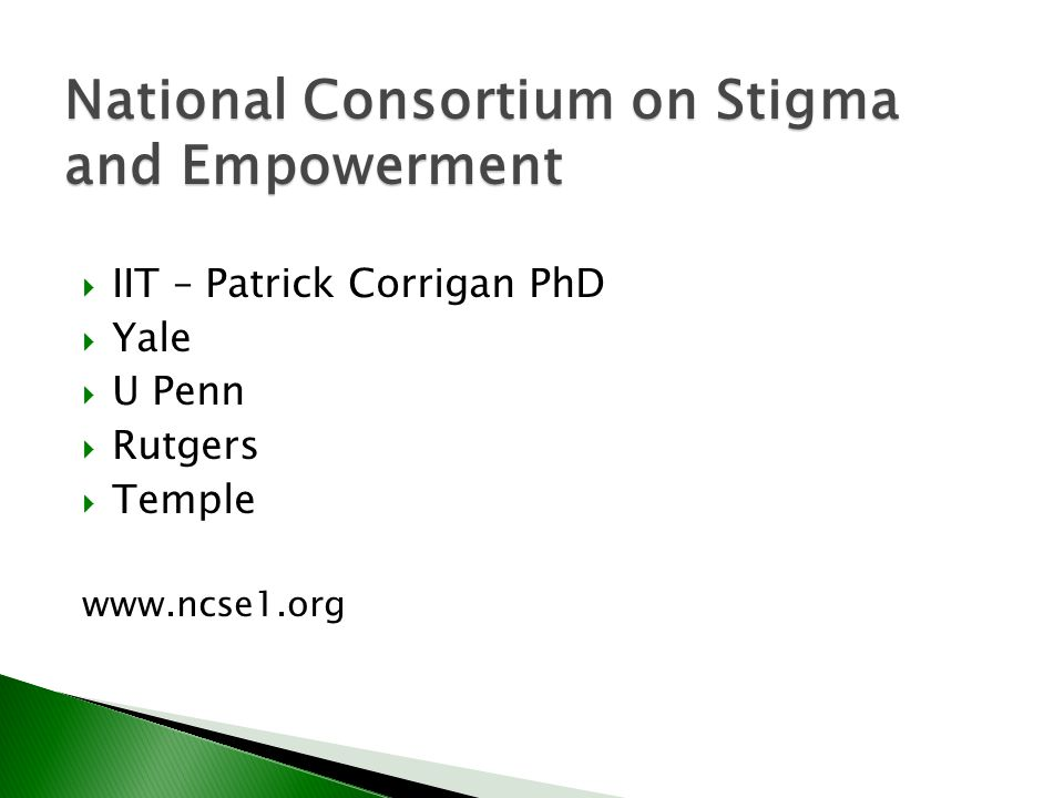 National Consortium on Stigma and Empowerment