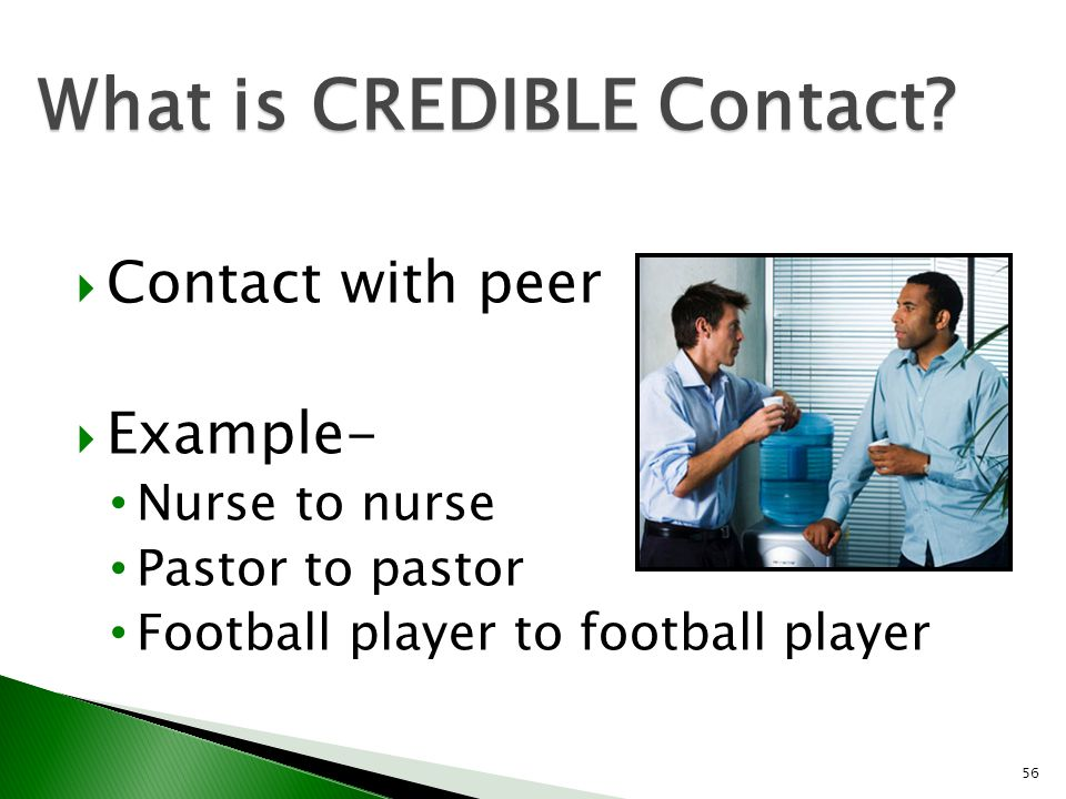 What is CREDIBLE Contact