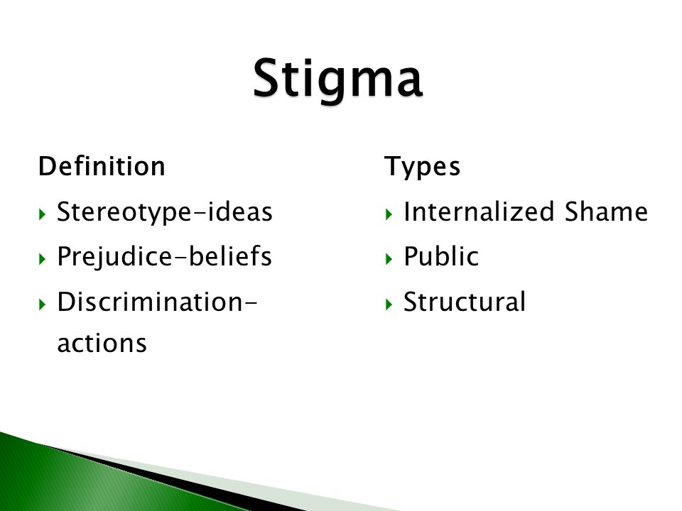 Stigma Stigma Definition and Types Definition Stereotype-ideas