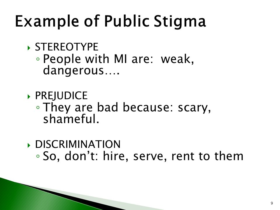 Example of Public Stigma