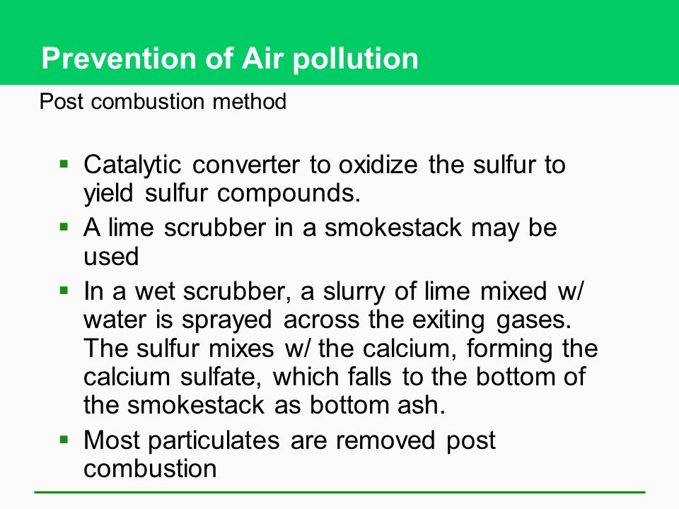 Prevention of Air pollution