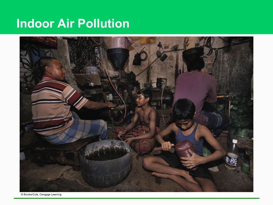 Indoor Air Pollution These children are working in a plastic factory in an urban slum in Bangladesh.