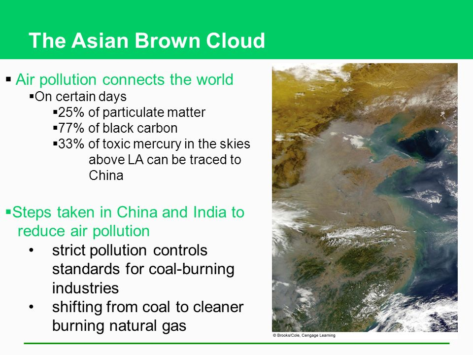 The Asian Brown Cloud Air pollution connects the world
