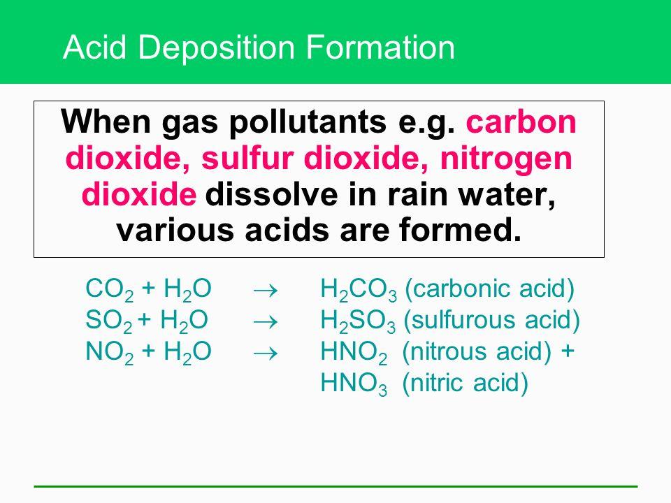 Acid Deposition Formation