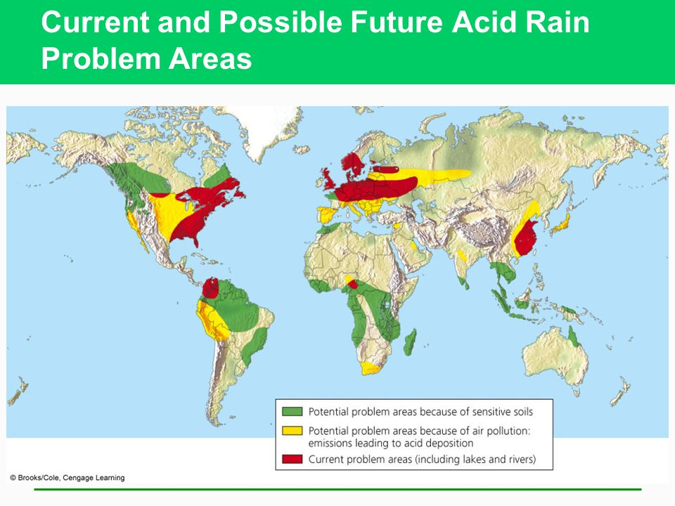 Current and Possible Future Acid Rain Problem Areas